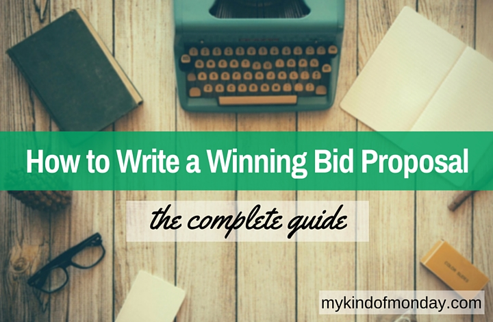 How to write a bid proposal