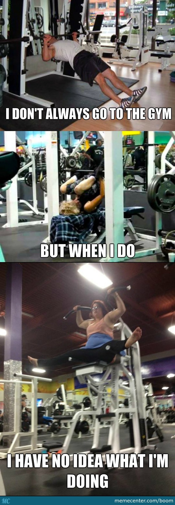 gym fails meme