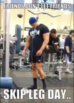 never skip leg day meme