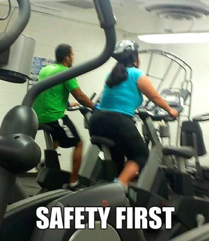 Safety at the gym meme